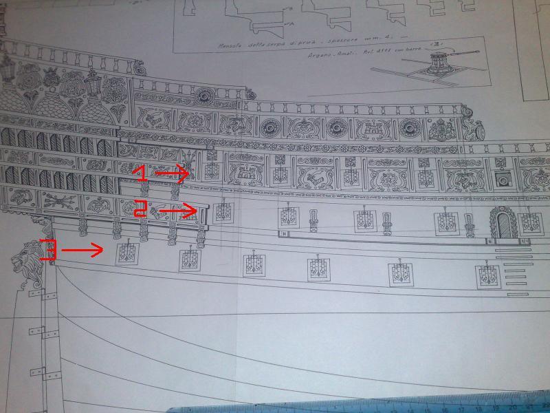 Sovereign Of The Seas XVII ème siècle de Sergal Mantua.  - Page 6 Sabord11