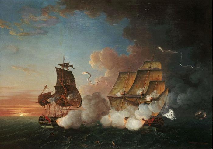 Indépendance - Indépendance des Etats-Unis d'Amérique, les combats sur mer illustrés par Auguste-Louis de Rossel 210