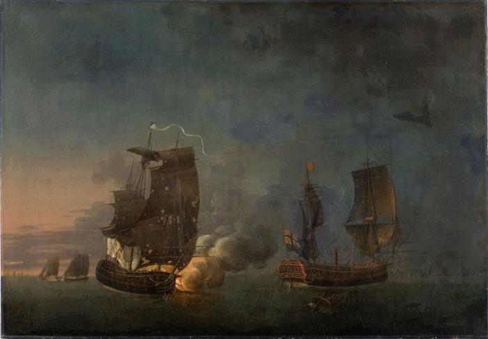 Indépendance - Indépendance des Etats-Unis d'Amérique, les combats sur mer illustrés par Auguste-Louis de Rossel 311