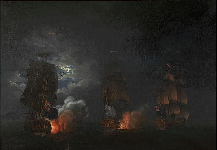 Indépendance - Indépendance des Etats-Unis d'Amérique, les combats sur mer illustrés par Auguste-Louis de Rossel 411