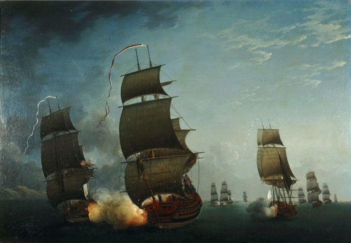 Indépendance - Indépendance des Etats-Unis d'Amérique, les combats sur mer illustrés par Auguste-Louis de Rossel 511
