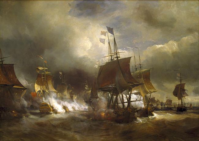 Indépendance - Indépendance des Etats-Unis d'Amérique, les combats sur mer illustrés par Auguste-Louis de Rossel Batail10