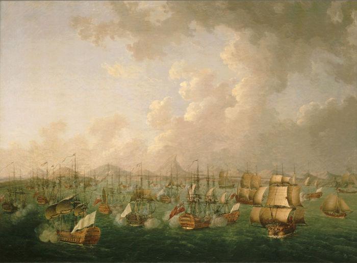 Indépendance - Indépendance des Etats-Unis d'Amérique, les combats sur mer illustrés par Auguste-Louis de Rossel Captur93
