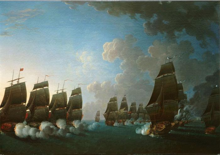 Indépendance - Indépendance des Etats-Unis d'Amérique, les combats sur mer illustrés par Auguste-Louis de Rossel Captur94