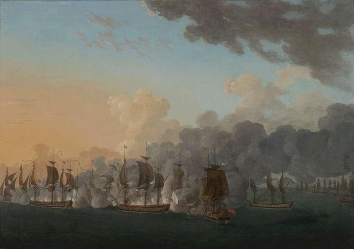 Indépendance - Indépendance des Etats-Unis d'Amérique, les combats sur mer illustrés par Auguste-Louis de Rossel Captur95