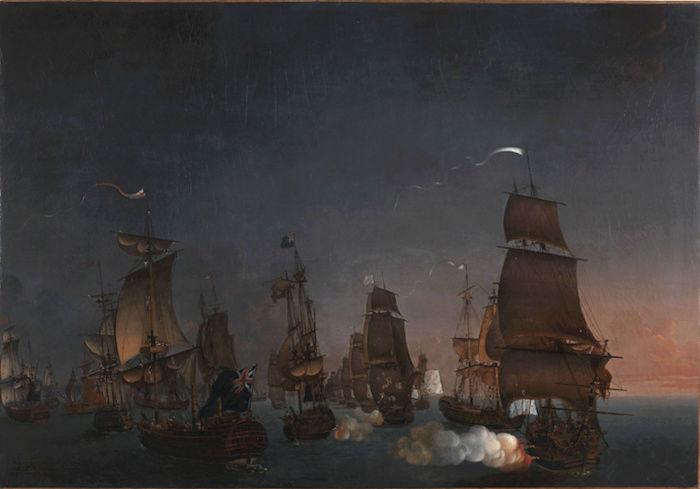 Indépendance - Indépendance des Etats-Unis d'Amérique, les combats sur mer illustrés par Auguste-Louis de Rossel Captur96