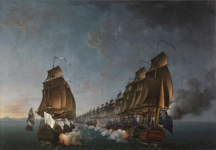 Indépendance - Indépendance des Etats-Unis d'Amérique, les combats sur mer illustrés par Auguste-Louis de Rossel Captur97
