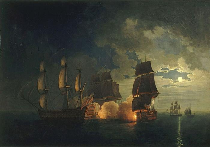 Indépendance - Indépendance des Etats-Unis d'Amérique, les combats sur mer illustrés par Auguste-Louis de Rossel Captur99