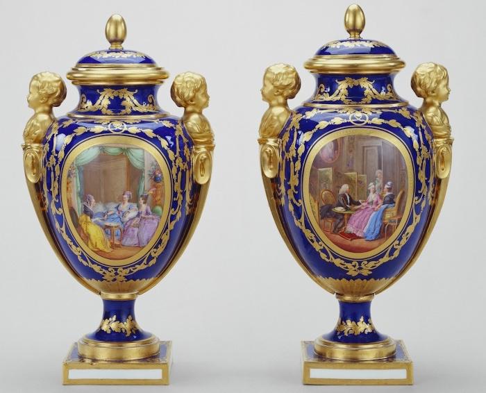 Le goût de Marie-Antoinette pour la porcelaine de Sèvres à effets de pierres précieuses Moreau10