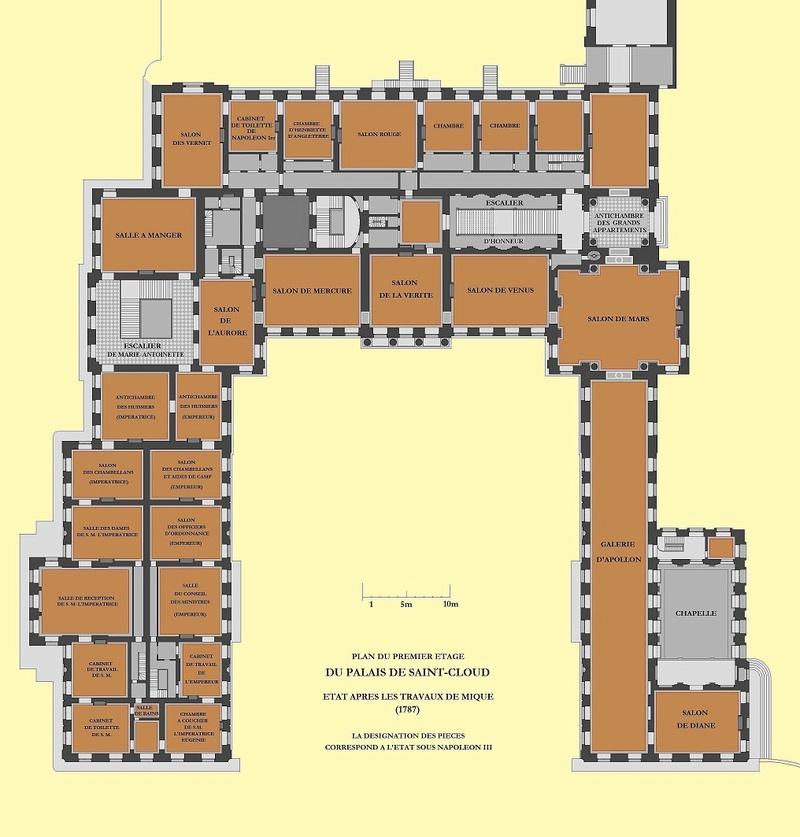 Baignoire provenant du château de Saint-Cloud, réputée avoir été utilisée par Marie-Antoinette ?  Planpr12