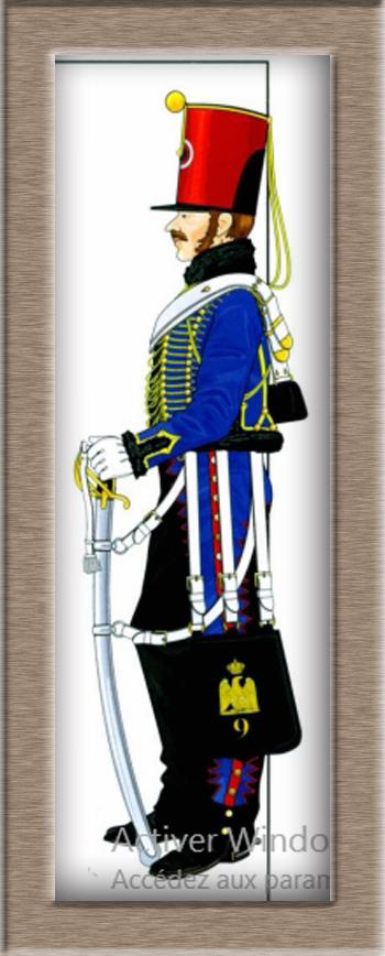 Hussard du 9ème régiment tenue de campagne 1814.Pegasso 54mm. Ttt11