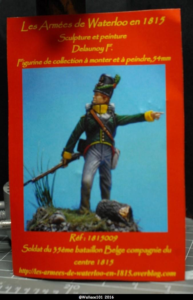 Soldat du 35ème bataillon Belge à Waterloo  54mm (Les Armées de Waterloo en 1815. Delaunoy Fabrice)  Sans_t19