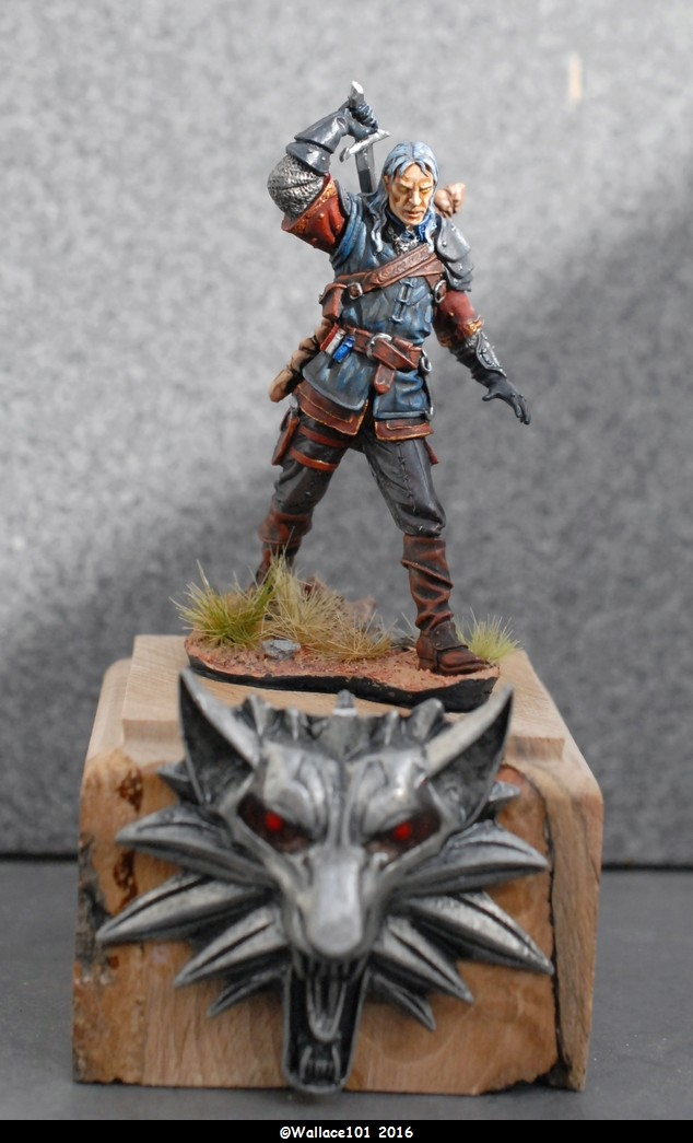 "Geralt de Riv ""The Witcher"" Andréa Miniatures 54mm Sans_t33"