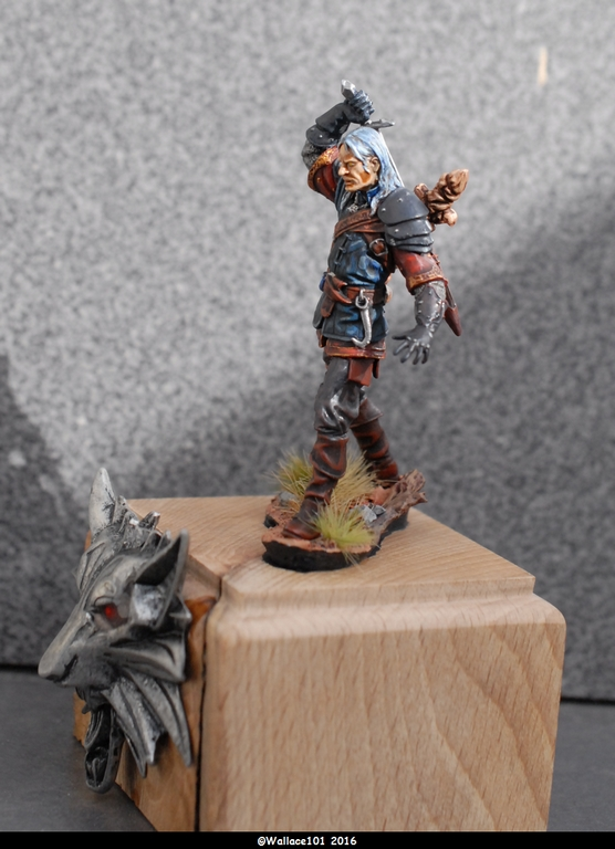"Geralt de Riv ""The Witcher"" Andréa Miniatures 54mm Sans_t36"
