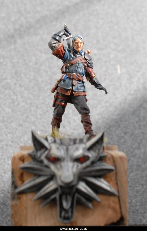 "Geralt de Riv ""The Witcher"" Andréa Miniatures 54mm Sans_t37"