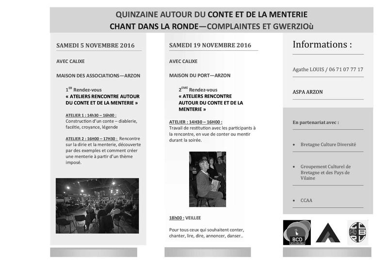 Local Criée, expo Kerjouano, AG, Soirée Bretonne, Logo ... Quinza10