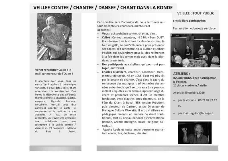Local Criée, expo Kerjouano, AG, Soirée Bretonne, Logo ... Quinza11