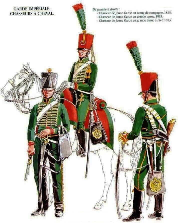 Chasseur à Cheval 2ème régiment Jeune Garde 1814-1815 Les_un14