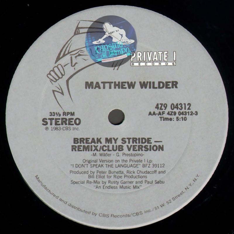 Matthew Wilder - Break My Stride (US 12' Vinil)[1983]{FLAC} Cara_a10