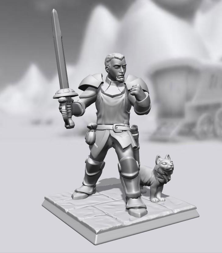 Galerie de Personnages 3D Hero Forge Alain_10