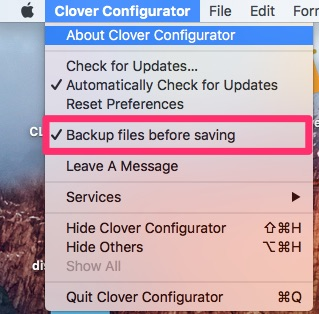 Clover Configurator Backup10