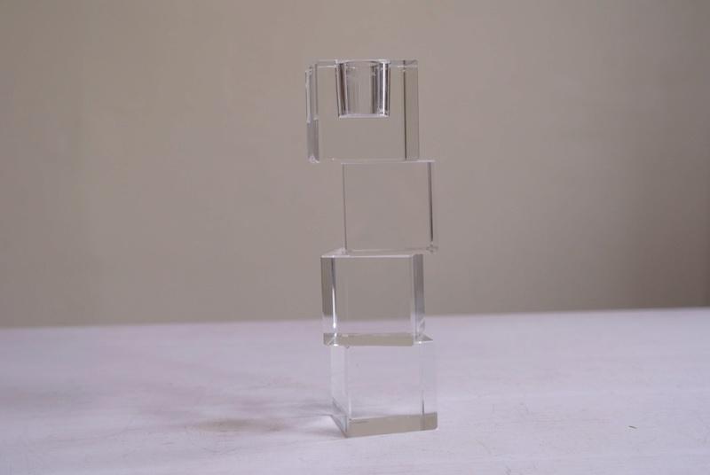 Cube Crystal Candle Holder Sam_3511