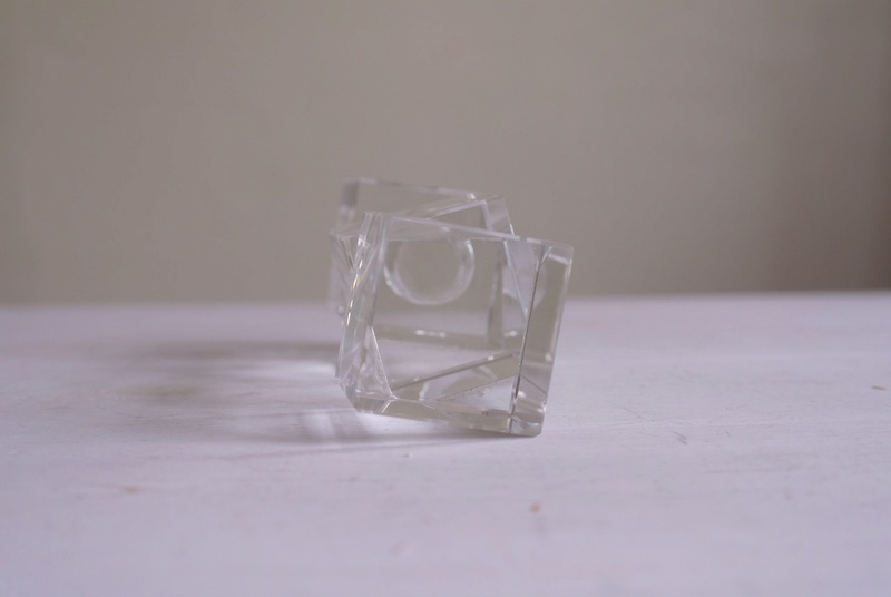 Cube Crystal Candle Holder Sam_3611