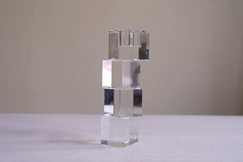 Cube Crystal Candle Holder Sam_3612