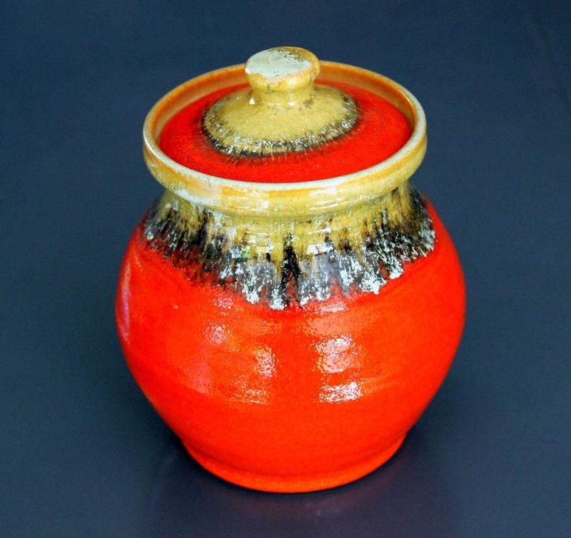 Largish Red/Orange Beach Jar Img_0213