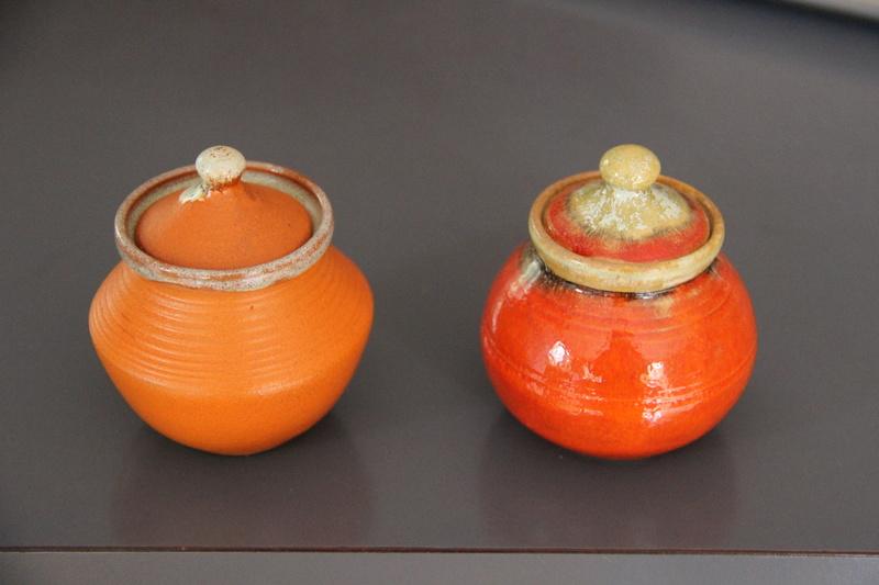 Largish Red/Orange Beach Jar Img_0310