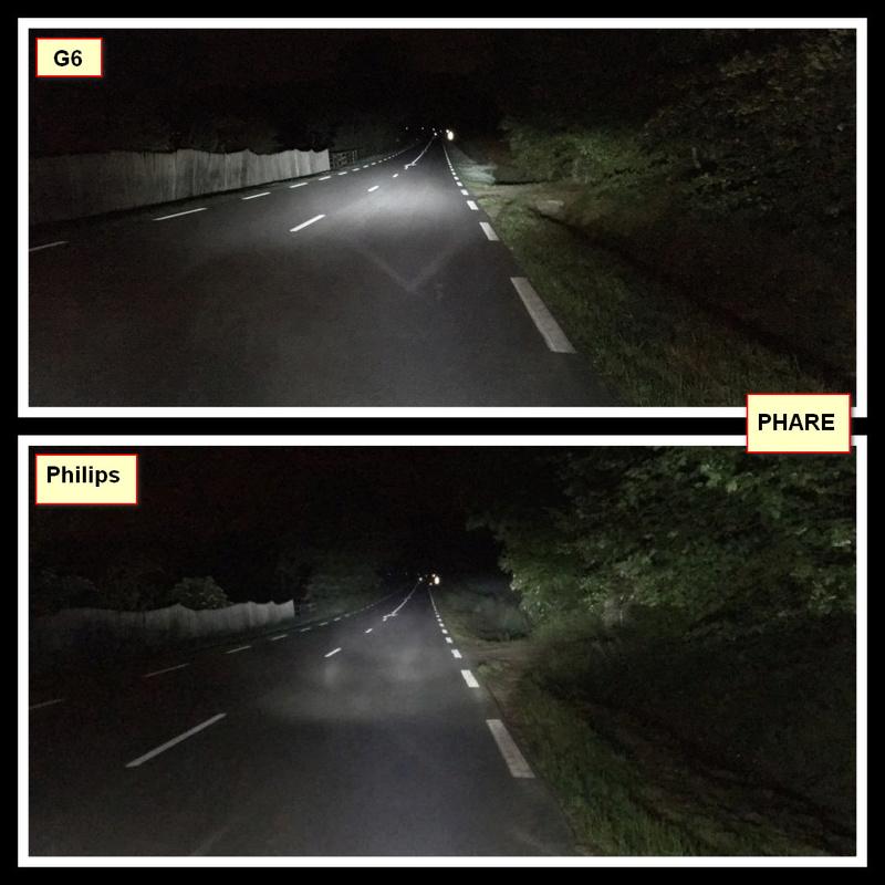 TEST nouvelle ampoule LED H4 210