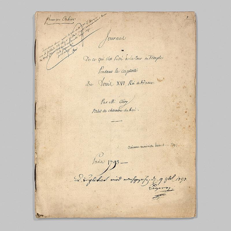 Vente exceptionnelle de manuscrits de Mr Cléry 14758211