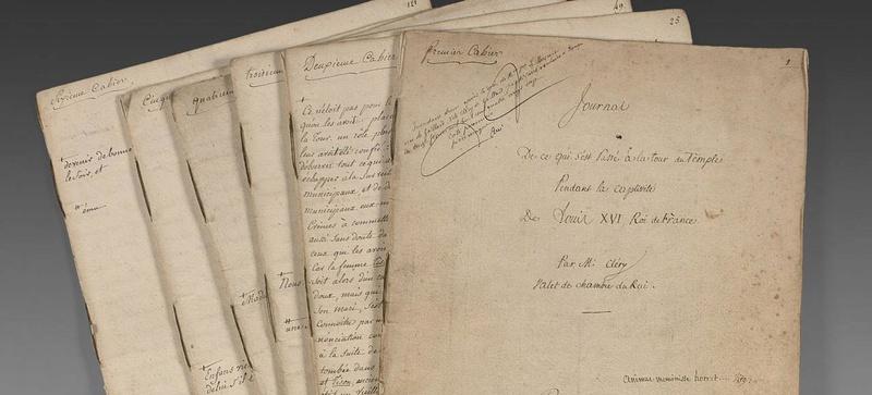 Vente exceptionnelle de manuscrits de Mr Cléry Xvm64210