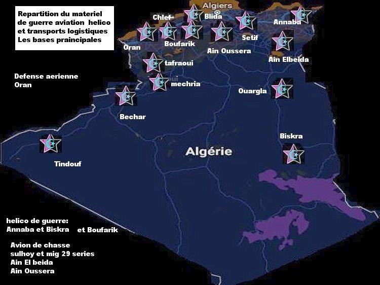 algerie - repartition bases regions et materiel de guerre Algerie Bases_10