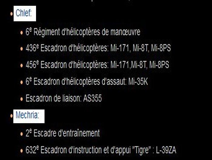 algerie - repartition bases regions et materiel de guerre Algerie E10