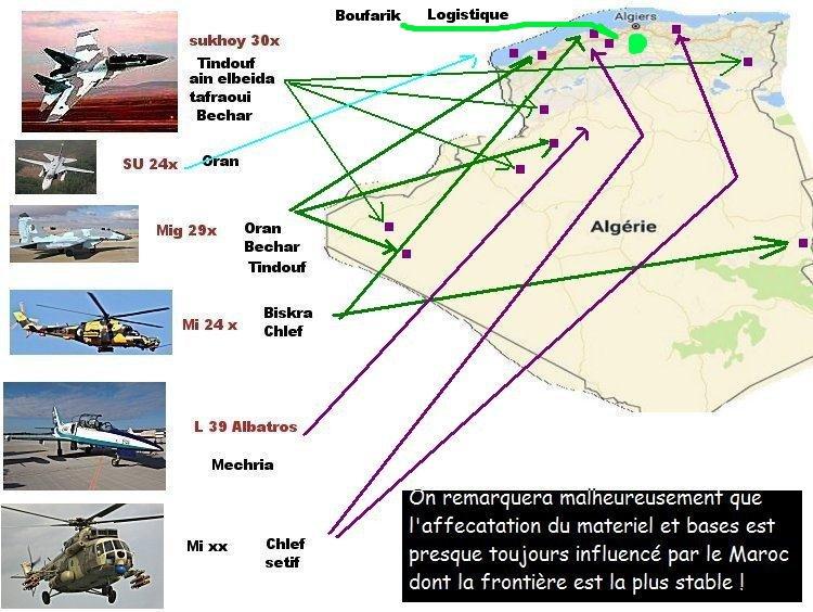 algerie - repartition bases regions et materiel de guerre Algerie Repart10