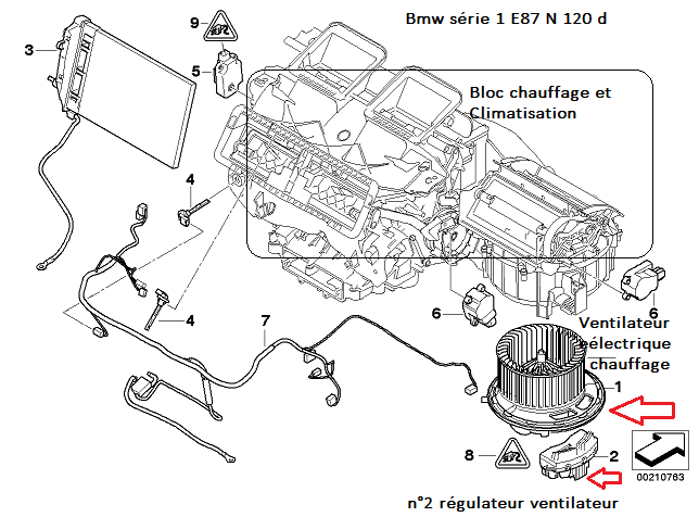 [ Bmw E87 LCI 120D an 2007 ] Grincement ventilateur 64_syr10