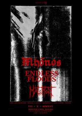 MHÖNOS-ENDLESS FLOODS-MALEMORT-ROUEN-7 OCTOBRE Concer10