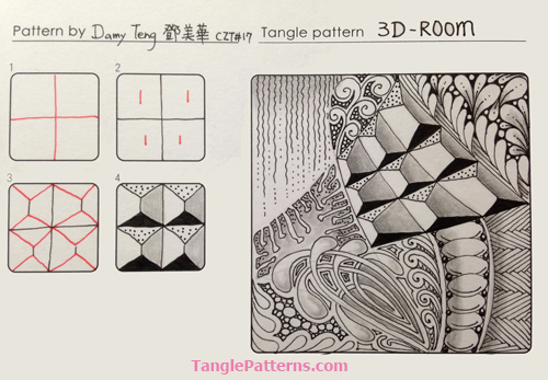 0-9 Zentangle Patterns & Stepouts 3d-roo10