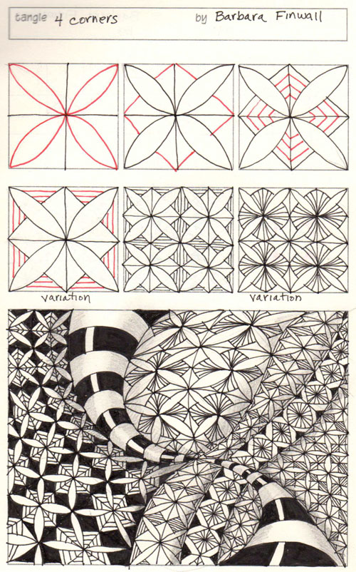 0-9 Zentangle Patterns & Stepouts 4-corn10