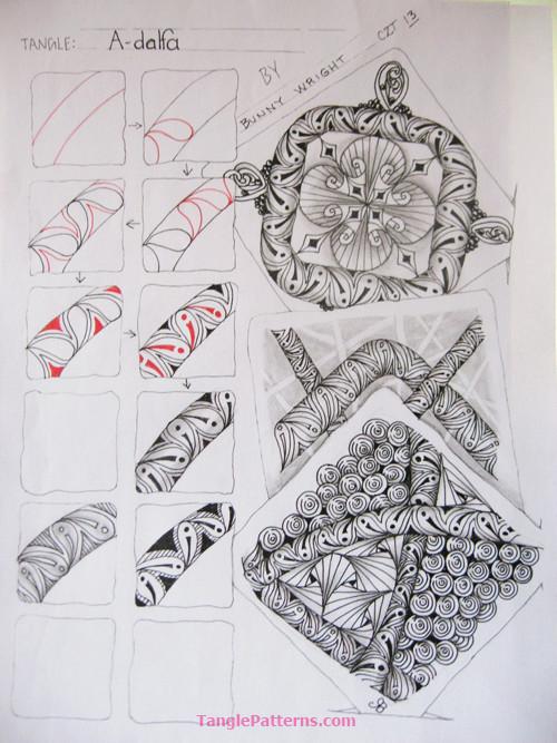 A Zentangle Patterns & Stepouts A-dalp10