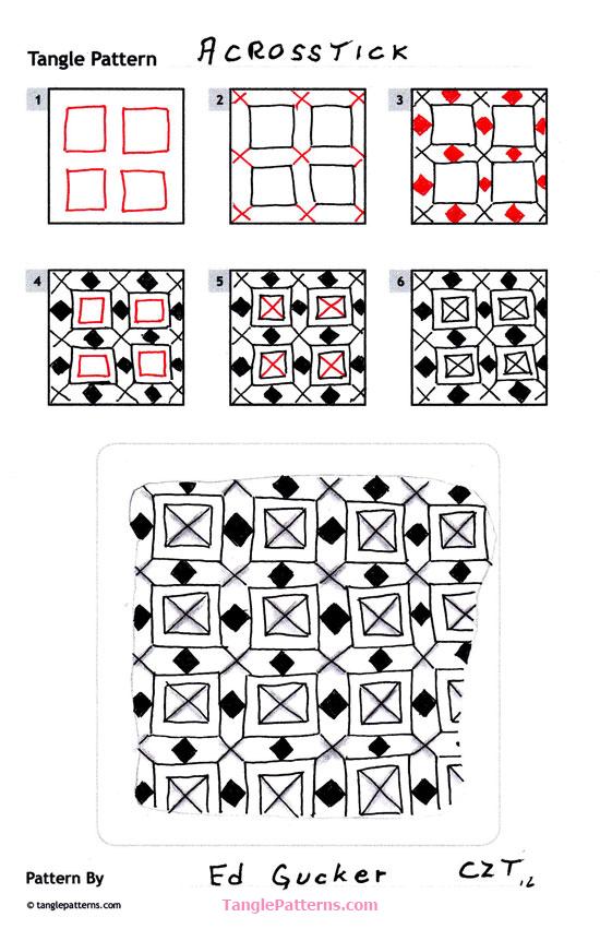 A Zentangle Patterns & Stepouts Across10