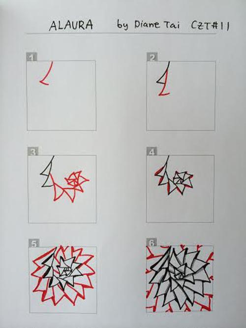 A Zentangle Patterns & Stepouts Alaura10