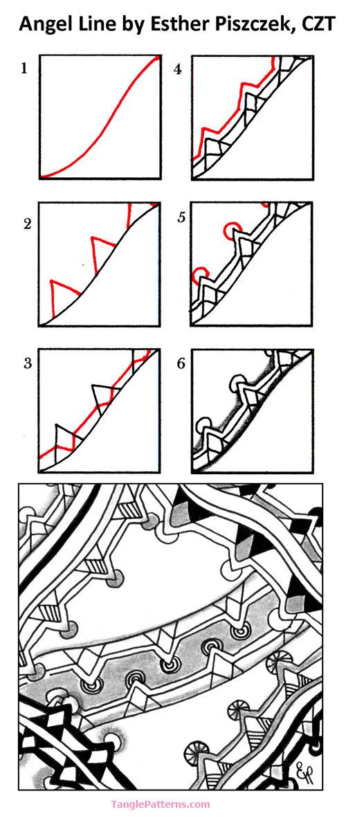 A Zentangle Patterns & Stepouts Angel-10