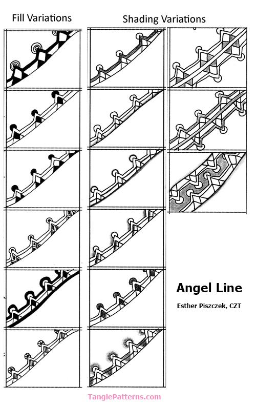 A Zentangle Patterns & Stepouts Angel-11