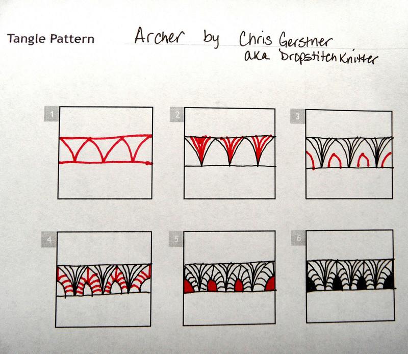 A Zentangle Patterns & Stepouts Archer10