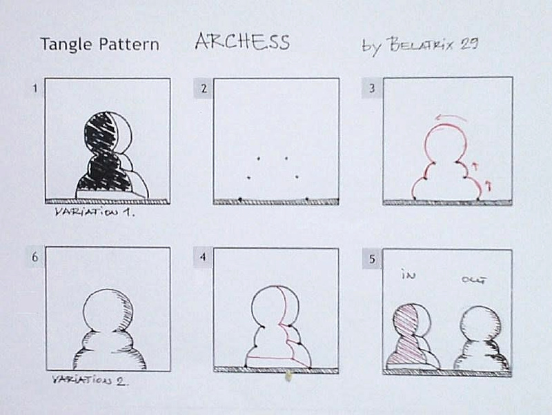 A Zentangle Patterns & Stepouts Arches10