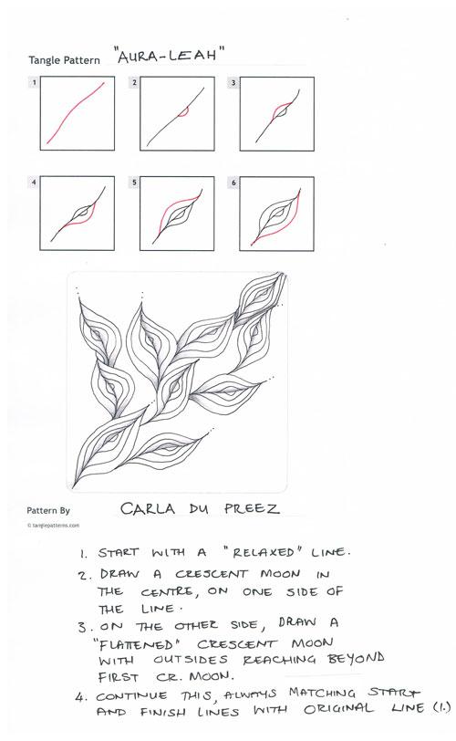 A Zentangle Patterns & Stepouts Aura-l10