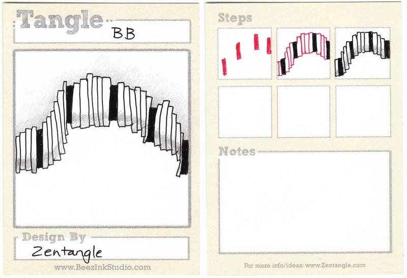 B Zentangle Patterns & Stepouts Bb10