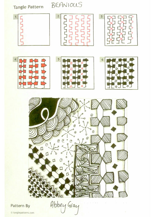 B Zentangle Patterns & Stepouts Beanio10